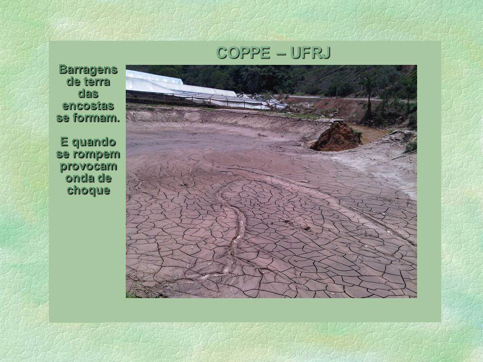 Laboratorio de Hidrologia O mapa dos temporais da Serra.