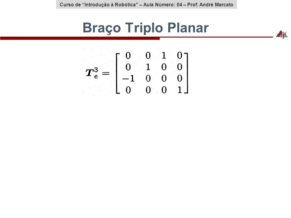 Curso de Introdução à Robótica – Aula Número: 04 – Prof. André Marcato Braço Triplo Planar