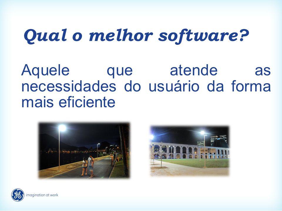 Qual o melhor software? Aquele que atende as necessidades do usuário da forma mais eficiente