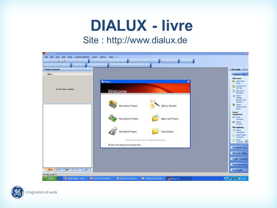 DIALUX - livre Site : http://www.dialux.de