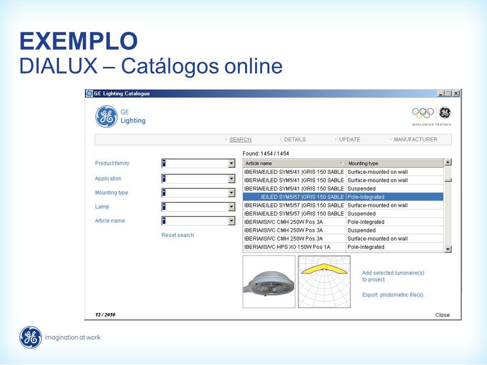 EXEMPLO DIALUX – Catálogos online
