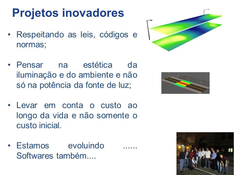 Projetos inovadores Respeitando as leis, códigos e normas; Pensar na estética da iluminação e do ambiente e não só na potência da fonte de luz; Levar