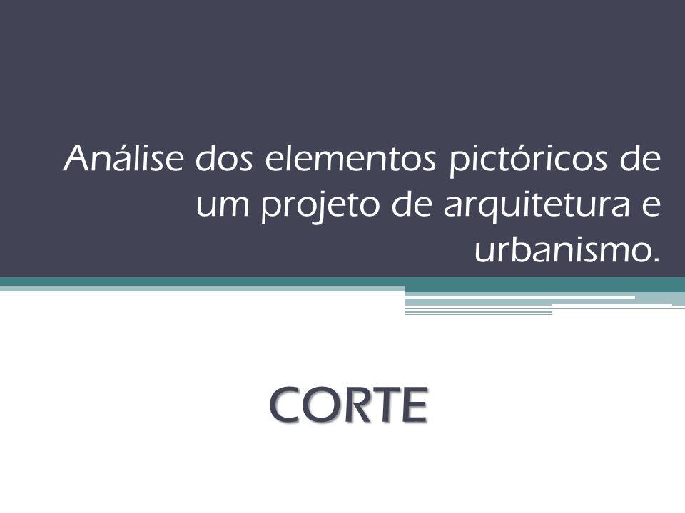 Análise dos elementos pictóricos de um projeto de arquitetura e urbanismo. CORTE