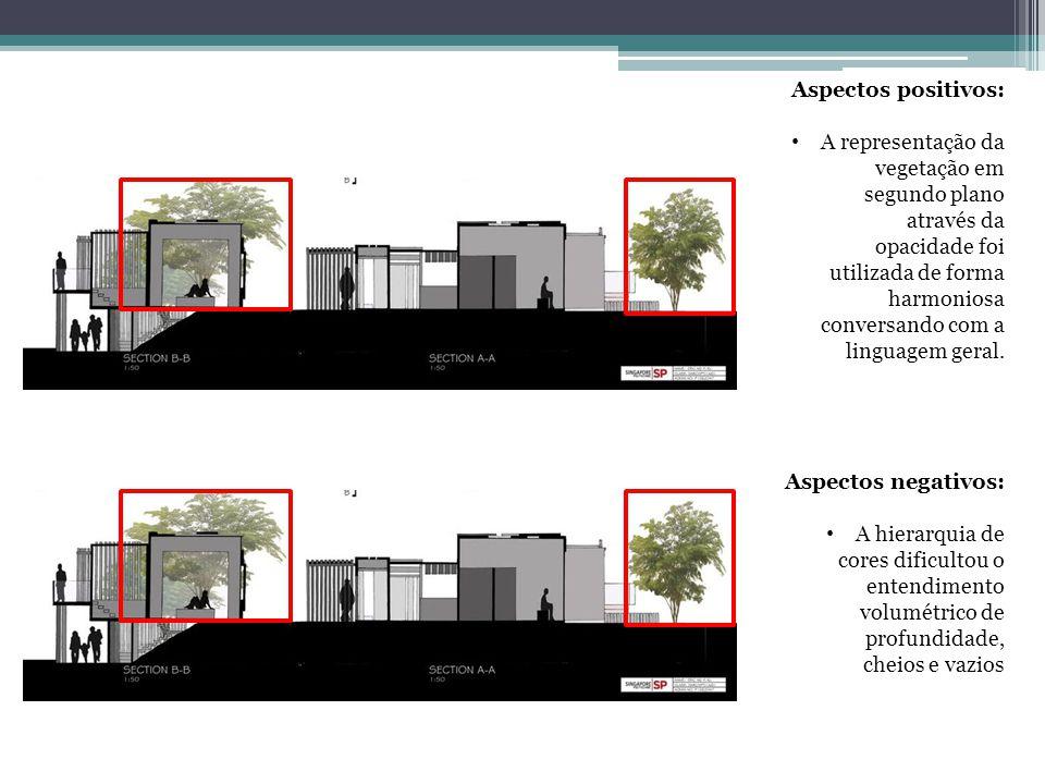 Aspectos positivos: A representação da vegetação em segundo plano através da opacidade foi utilizada de forma harmoniosa conversando com a linguagem g