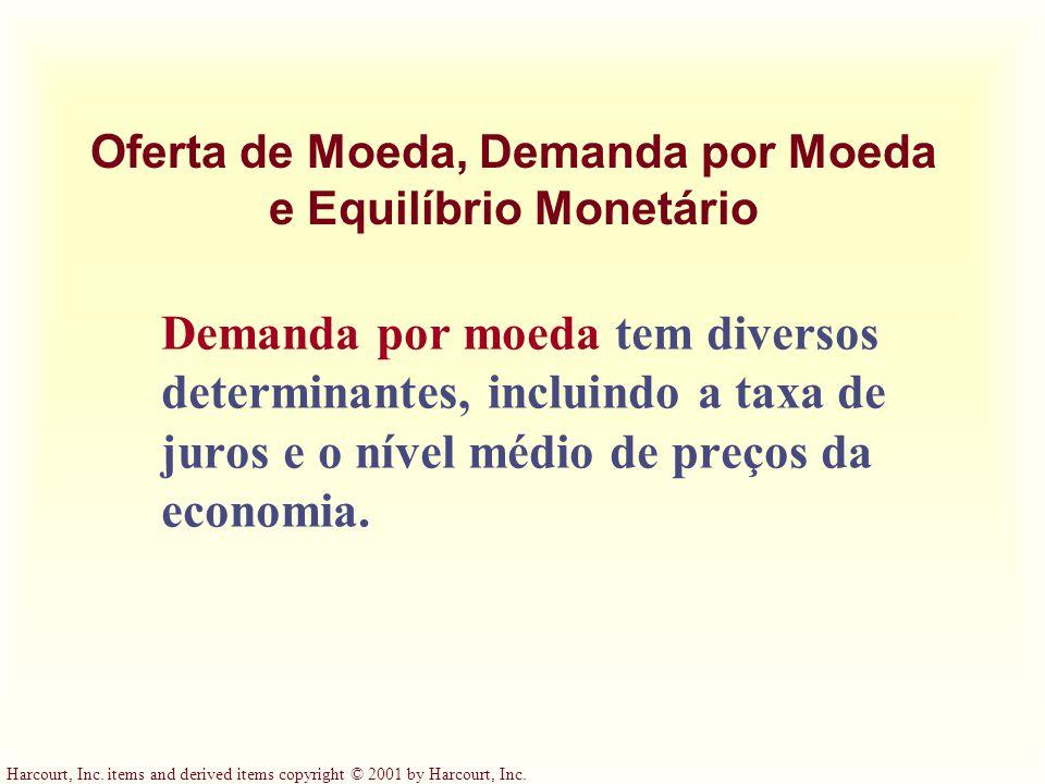 Harcourt, Inc. items and derived items copyright © 2001 by Harcourt, Inc. Inflação e Moeda