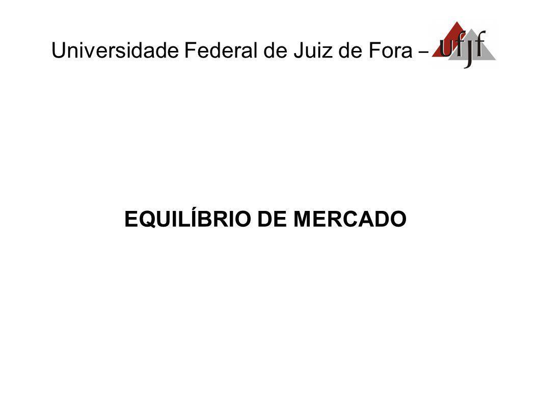 Universidade Federal de Juiz de Fora – EQUILÍBRIO DE MERCADO