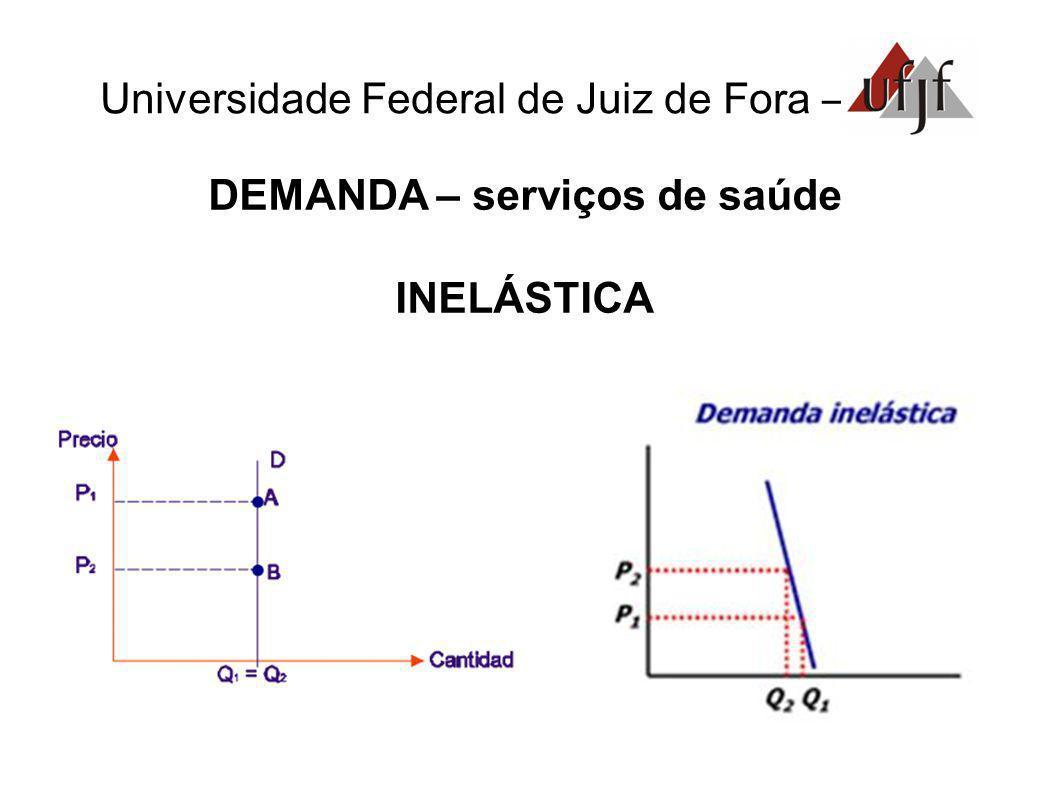 Universidade Federal de Juiz de Fora – DEMANDA – serviços de saúde INELÁSTICA