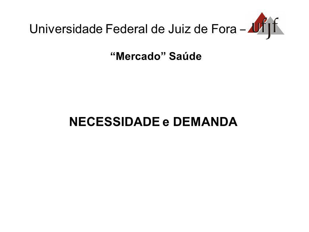 Universidade Federal de Juiz de Fora – Mercado Saúde NECESSIDADE e DEMANDA
