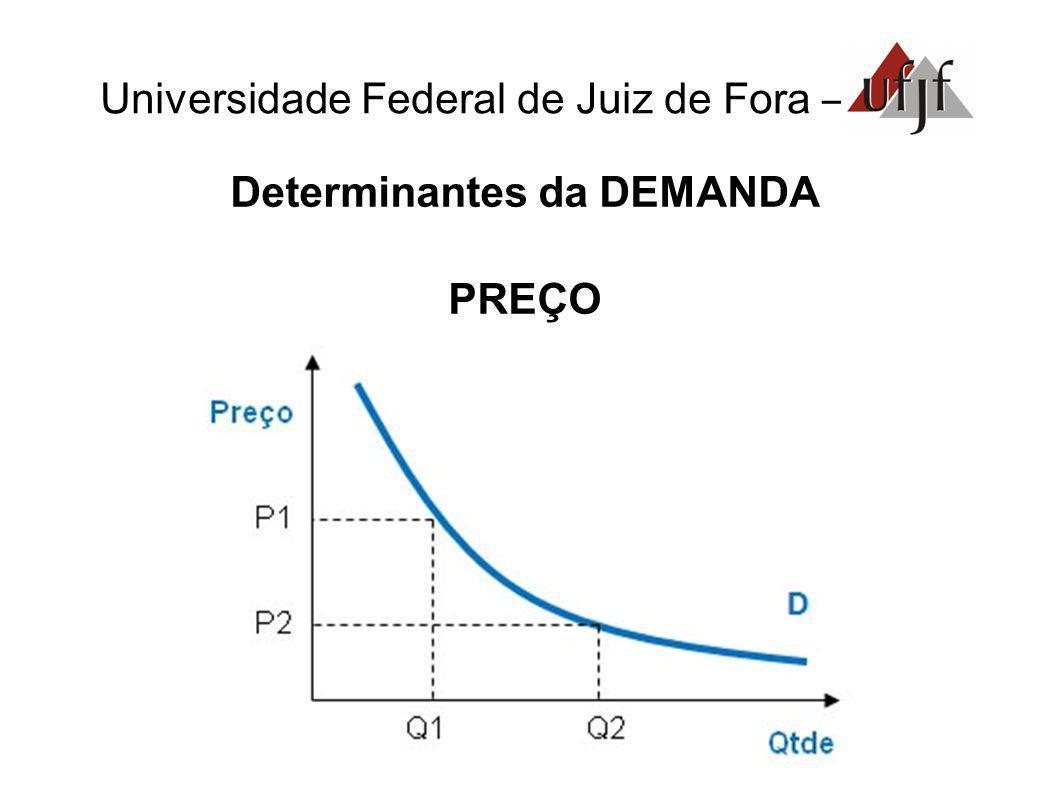Universidade Federal de Juiz de Fora – Determinantes da DEMANDA PREÇO