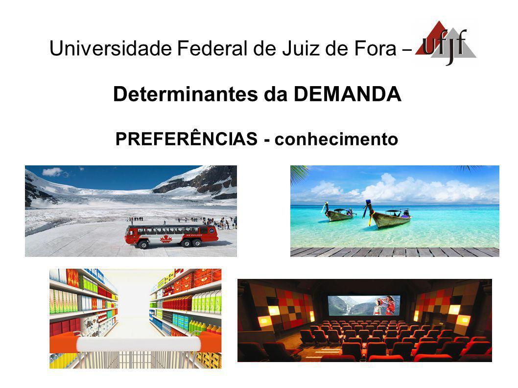 Universidade Federal de Juiz de Fora – Determinantes da DEMANDA PREFERÊNCIAS - conhecimento