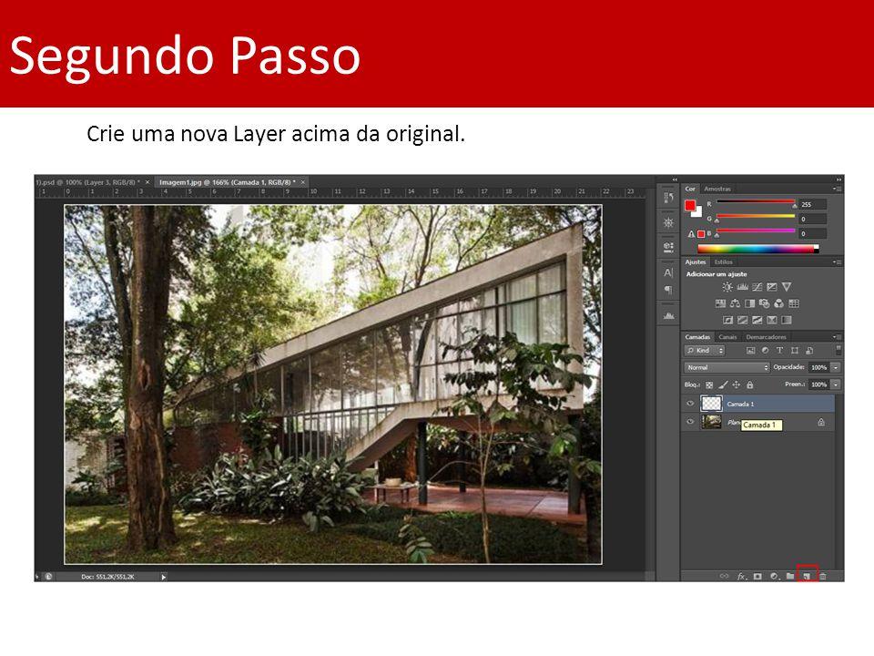 Segundo Passo Crie uma nova Layer acima da original.
