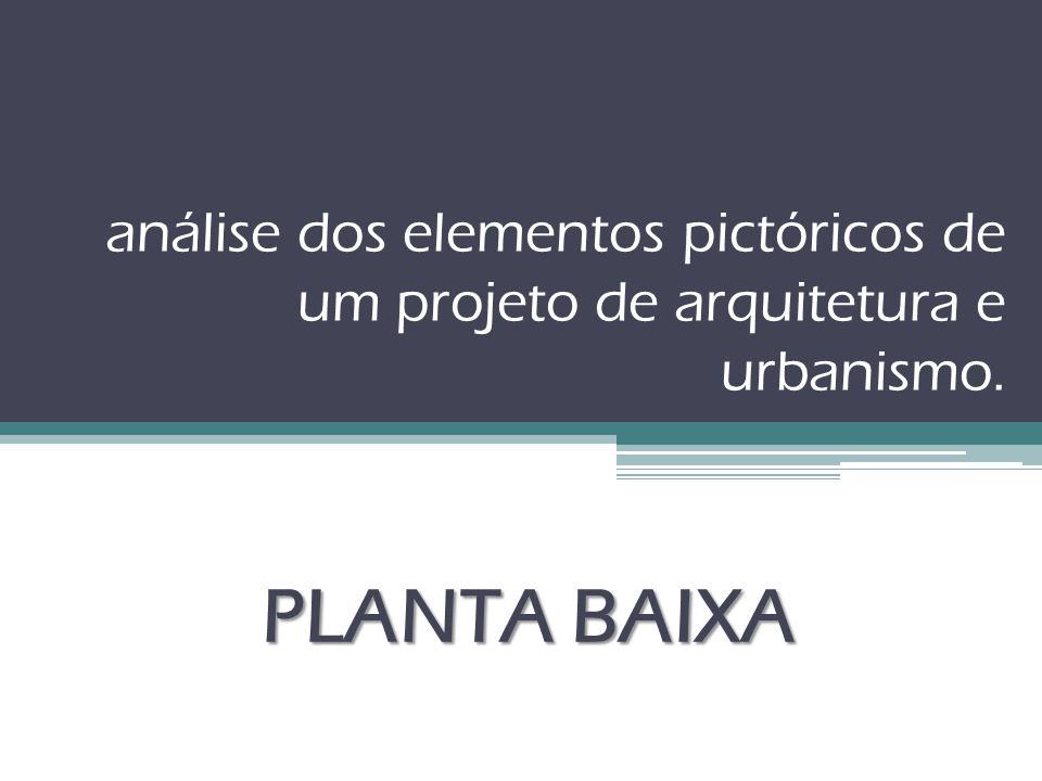 análise dos elementos pictóricos de um projeto de arquitetura e urbanismo. PLANTA BAIXA