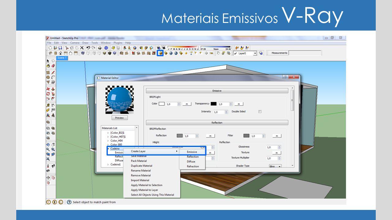 Materiais Emissivos V-Ray