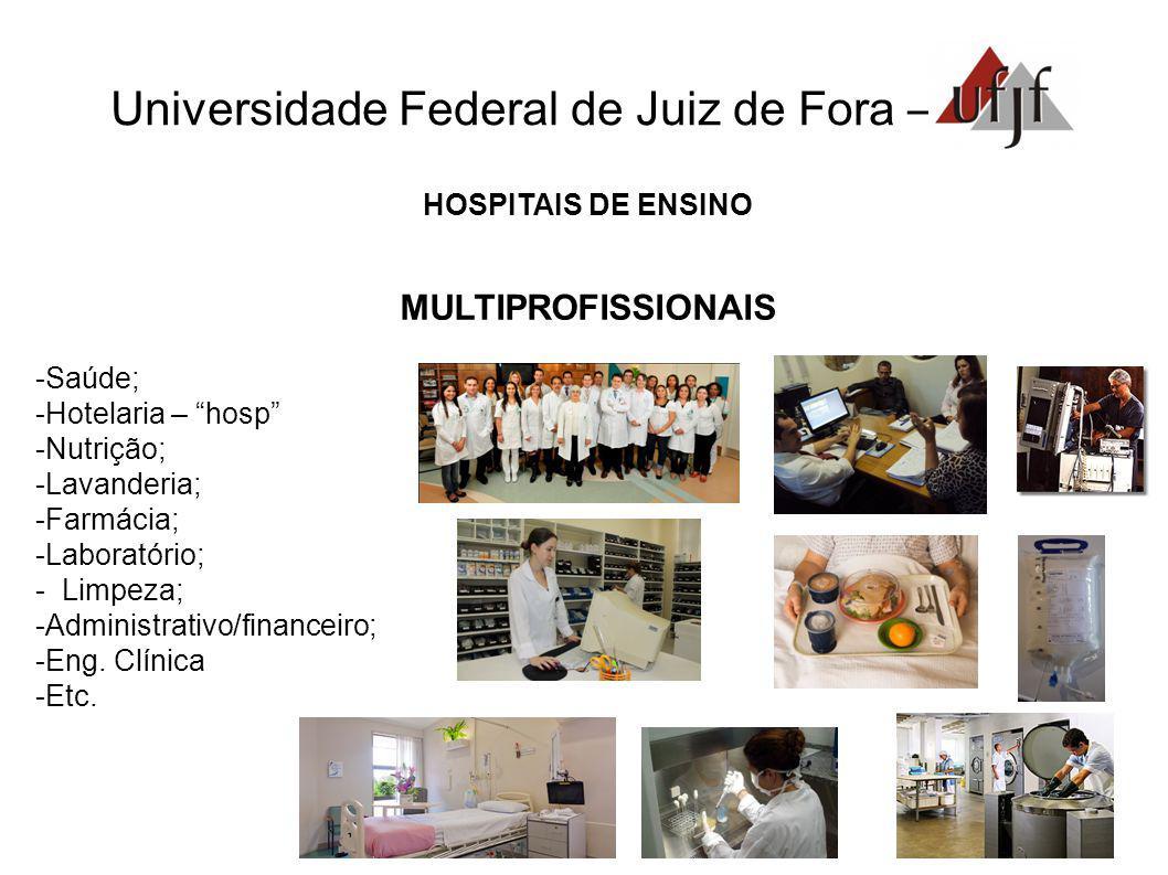 Universidade Federal de Juiz de Fora – HOSPITAIS DE ENSINO MULTIPROFISSIONAIS Saúde; Hotelaria – hosp Nutrição; Lavanderia; Farmácia; Laboratório; - L
