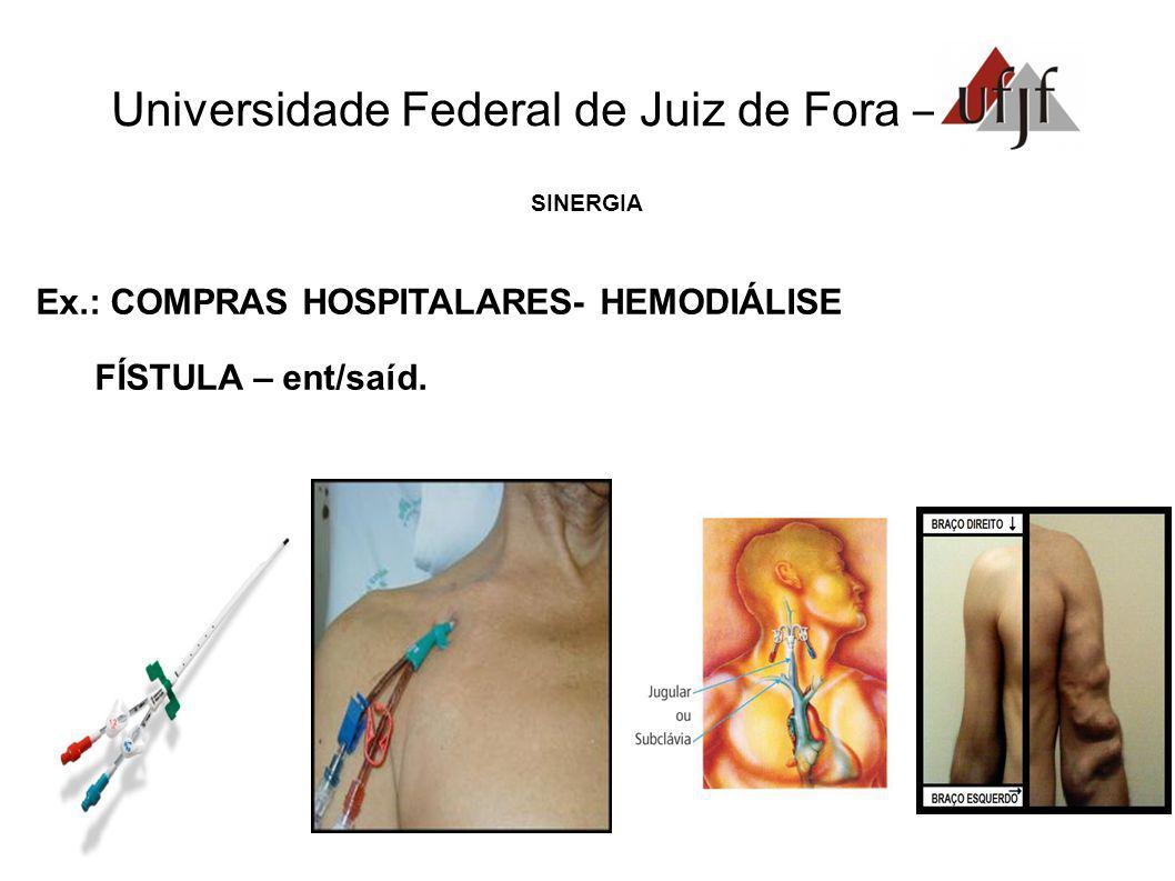 Universidade Federal de Juiz de Fora – SINERGIA Ex.: COMPRAS HOSPITALARES- HEMODIÁLISE FÍSTULA – ent/saíd.