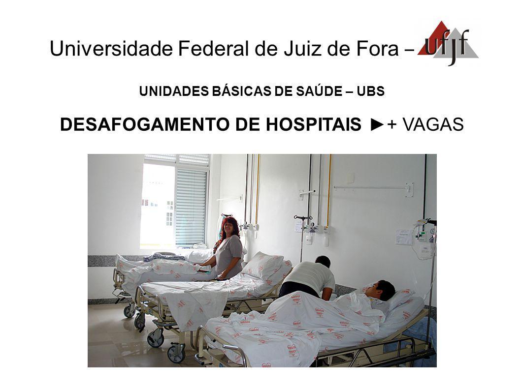 Universidade Federal de Juiz de Fora – UNIDADES BÁSICAS DE SAÚDE – UBS DESAFOGAMENTO DE HOSPITAIS + VAGAS