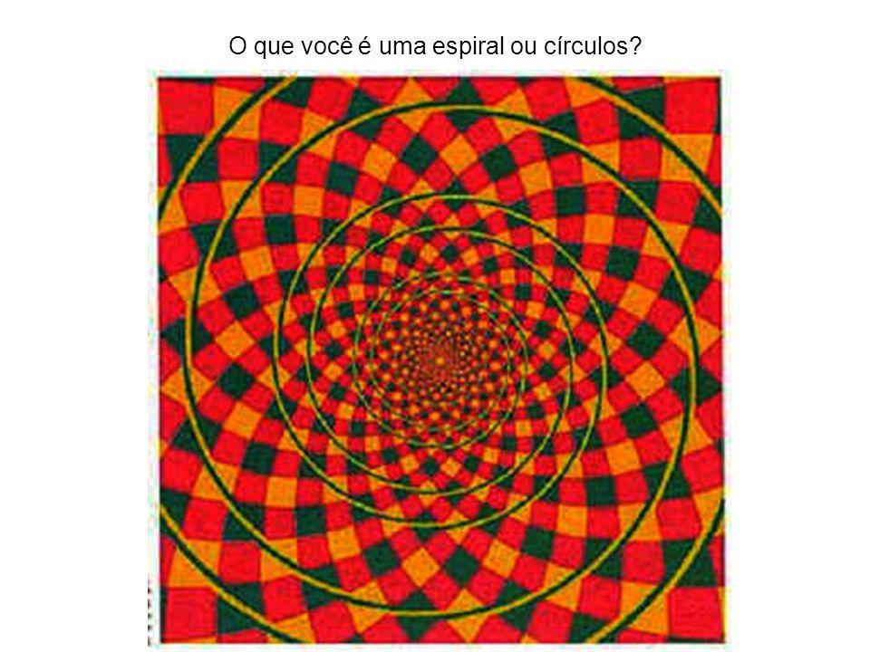 O que você é uma espiral ou círculos?