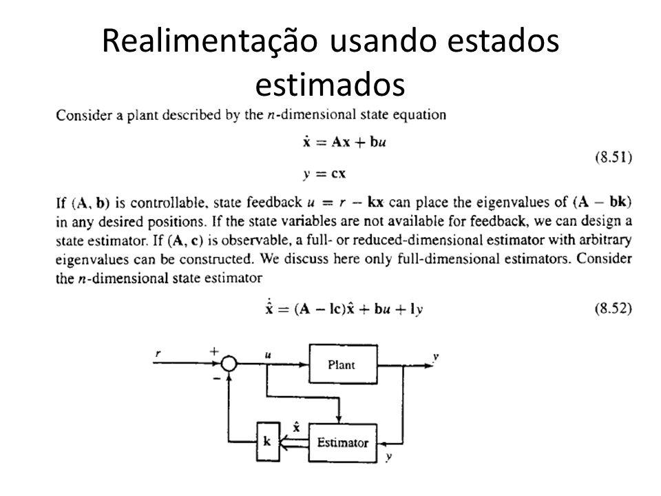 Realimentação usando estados estimados