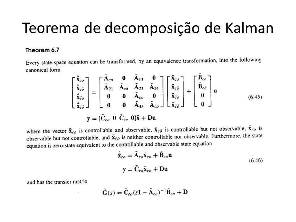 Teorema de decomposição de Kalman