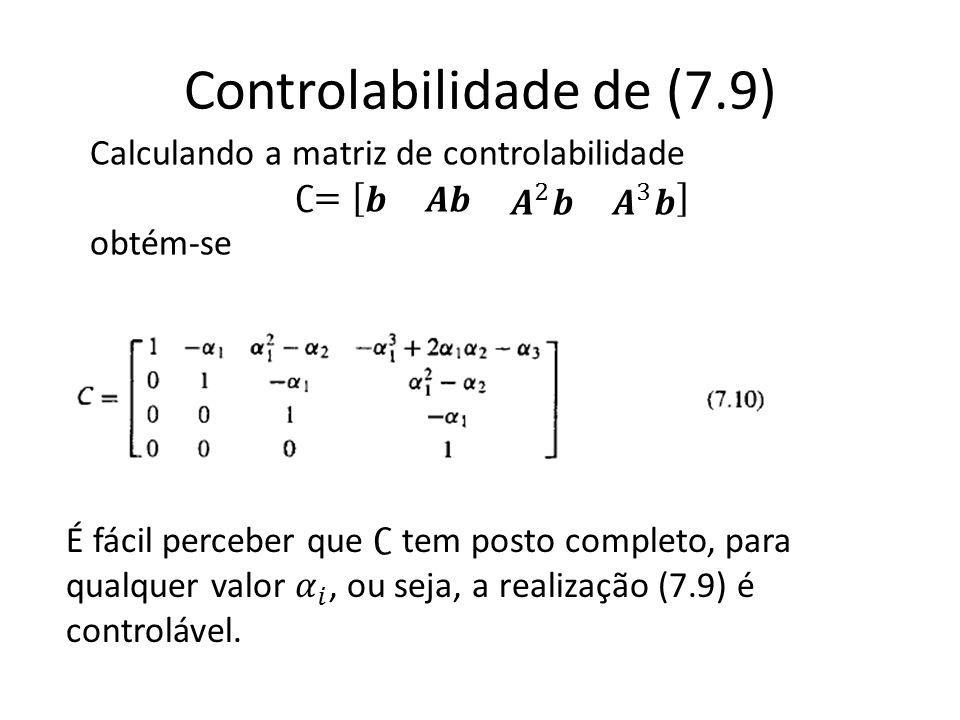 Controlabilidade de (7.9)