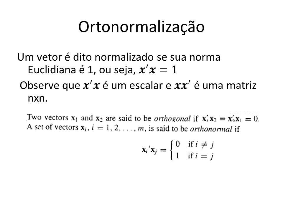 Ortonormalização