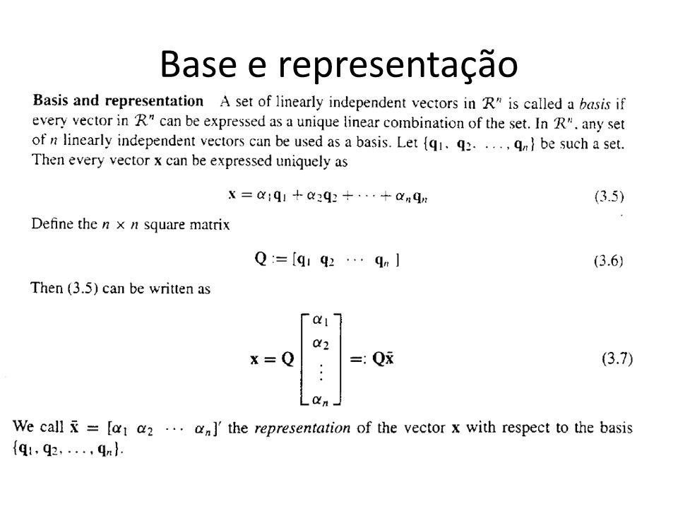 Base e representação