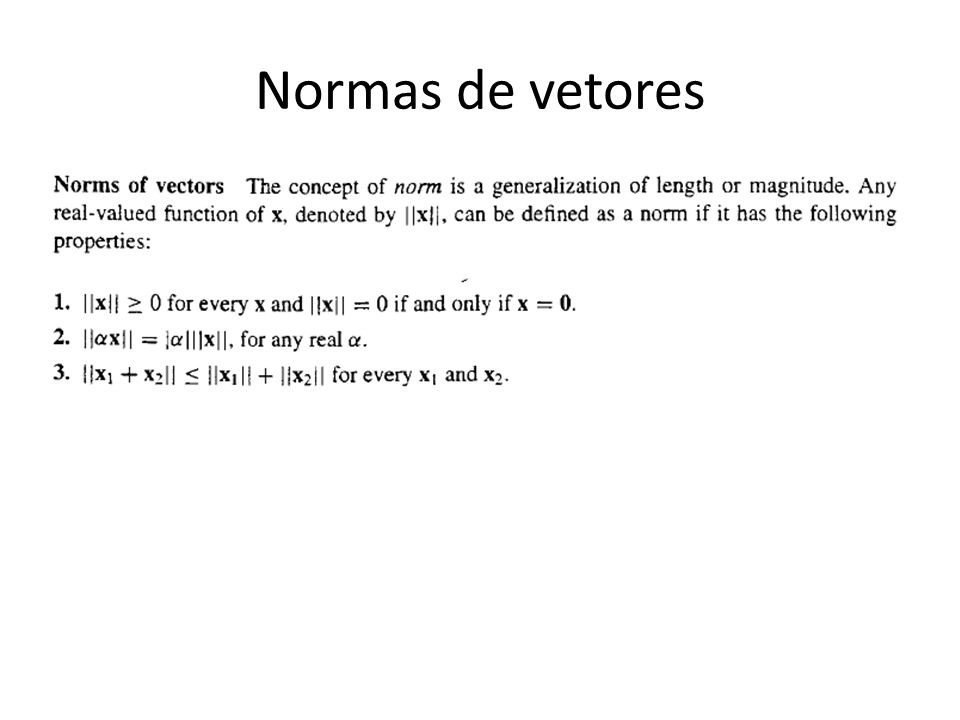 Normas de vetores