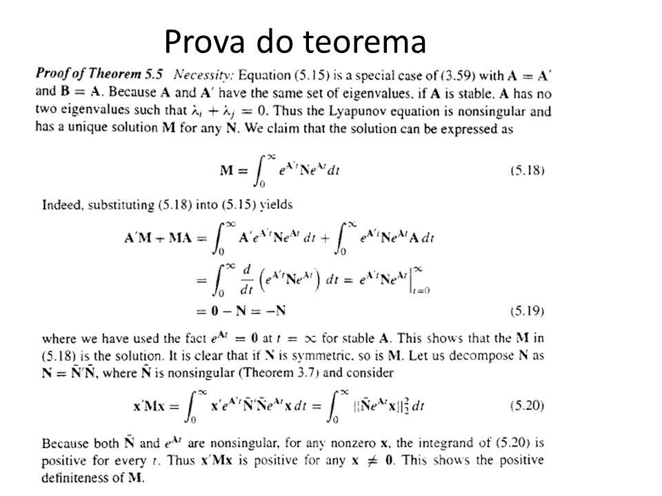 Prova do teorema