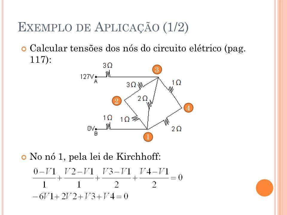 Calcular tensões dos nós do circuito elétrico (pag.