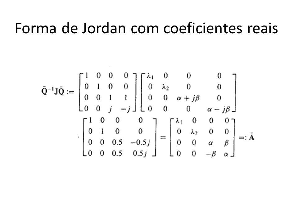 Forma de Jordan com coeficientes reais