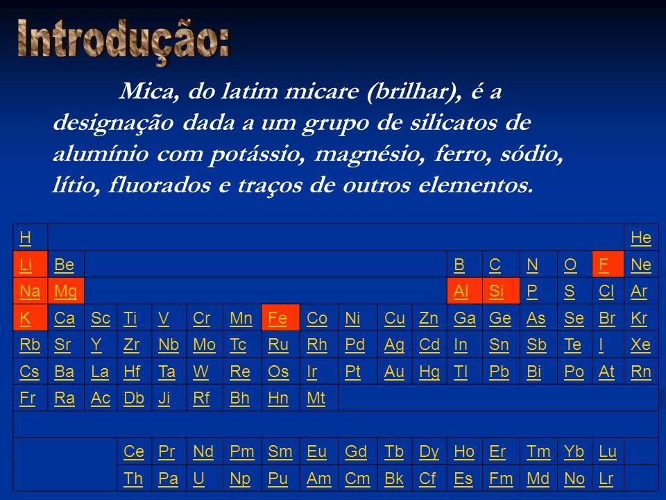 Mica, do latim micare (brilhar), é a designação dada a um grupo de silicatos de alumínio com potássio, magnésio, ferro, sódio, lítio, fluorados e traç