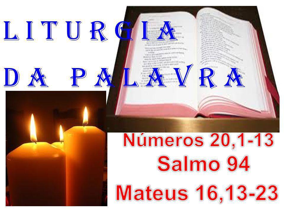 1ª Leitura: (Números 20,1-13) Leitura do Livro dos Números.