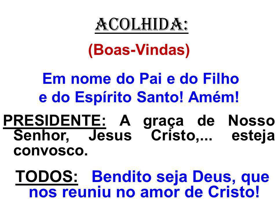 EMBOLISMO: (Após o Pai-Nosso) PADRE: Livrai-nos de todos os males, ó Pai, e dai-nos hoje a vossa paz.
