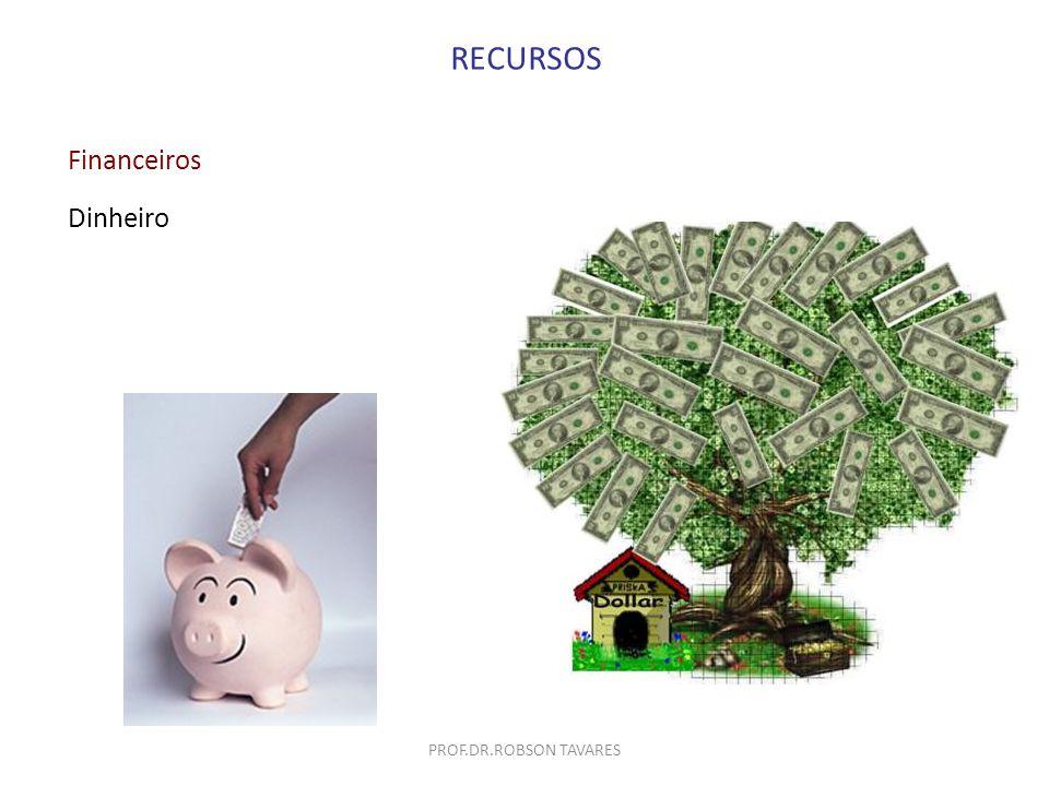 Financeiros Dinheiro RECURSOS PROF.DR.ROBSON TAVARES
