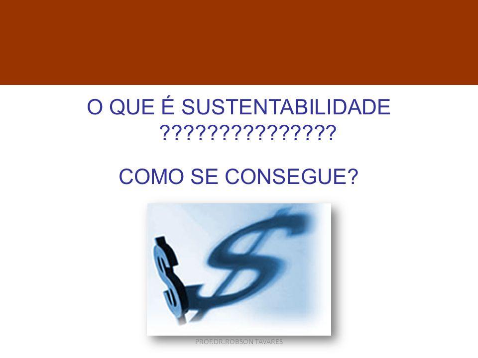 O QUE É SUSTENTABILIDADE ??????????????? COMO SE CONSEGUE? c PROF.DR.ROBSON TAVARES