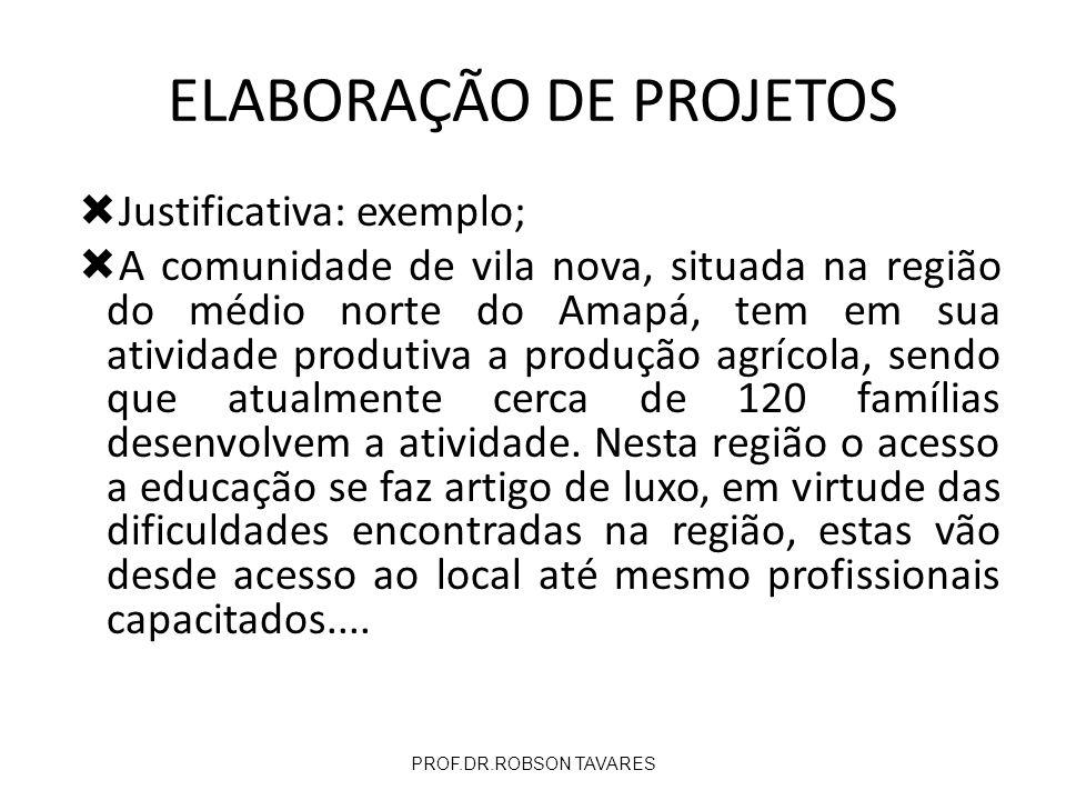 Justificativa: exemplo; A comunidade de vila nova, situada na região do médio norte do Amapá, tem em sua atividade produtiva a produção agrícola, send