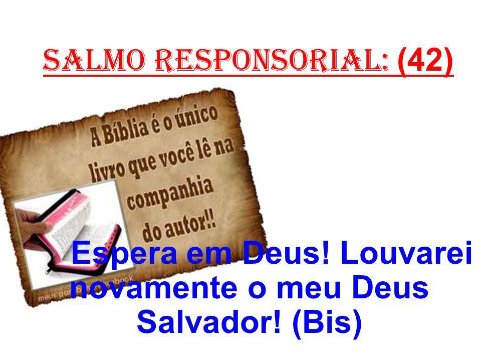 salmo responsorial: (42) Espera em Deus! Louvarei novamente o meu Deus Salvador! (Bis)
