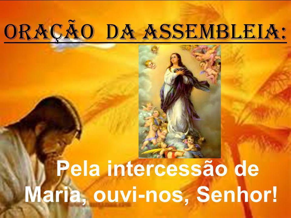 ORAÇÃO DA ASSEMBLEIA: Pela intercessão de Maria, ouvi-nos, Senhor!