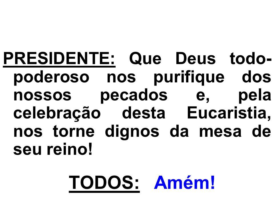 ORAÇÃO EUCARÍSTICA ( I ): PADRE: Vencendo o pecado e a morte, vosso Filho, Jesus, Rei da glória, subiu, hoje, ante os anjos maravilhados, ao mais alto dos céus.