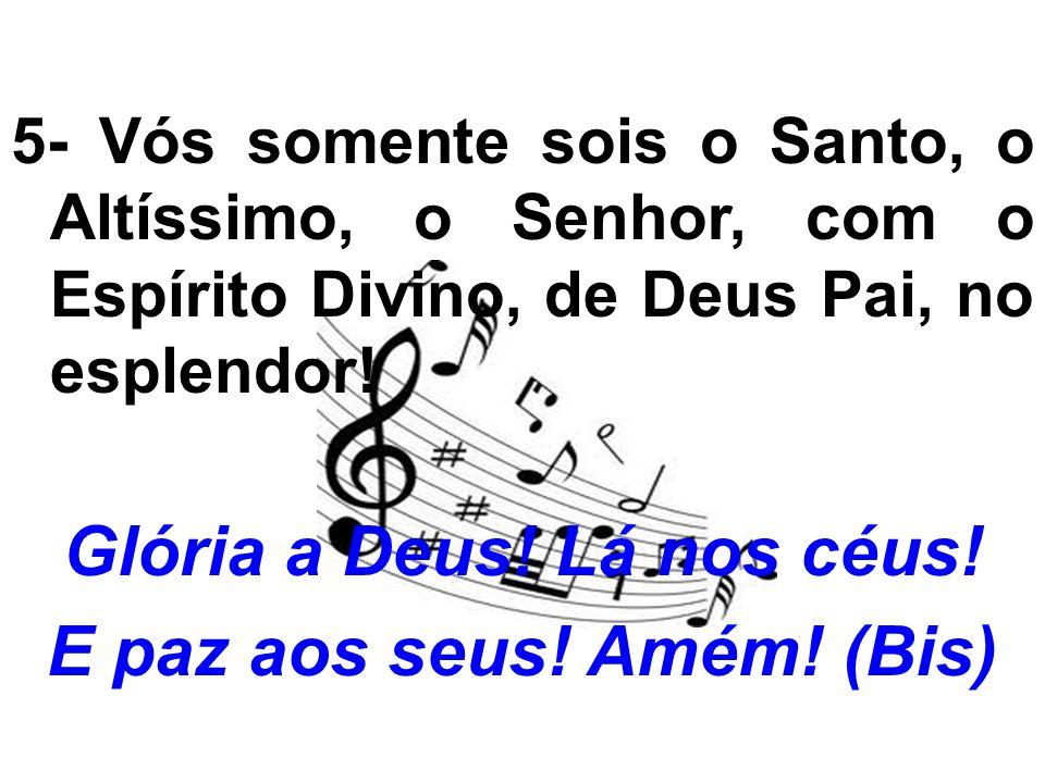 salmo responsorial: (46) 2- Por entre aclamações Deus se elevou,/ o Senhor subiu ao toque da trombeta./ Salmodiai ao nosso Deus ao som da harpa,/ salmodiai, ao som da harpa, ao nosso Rei.