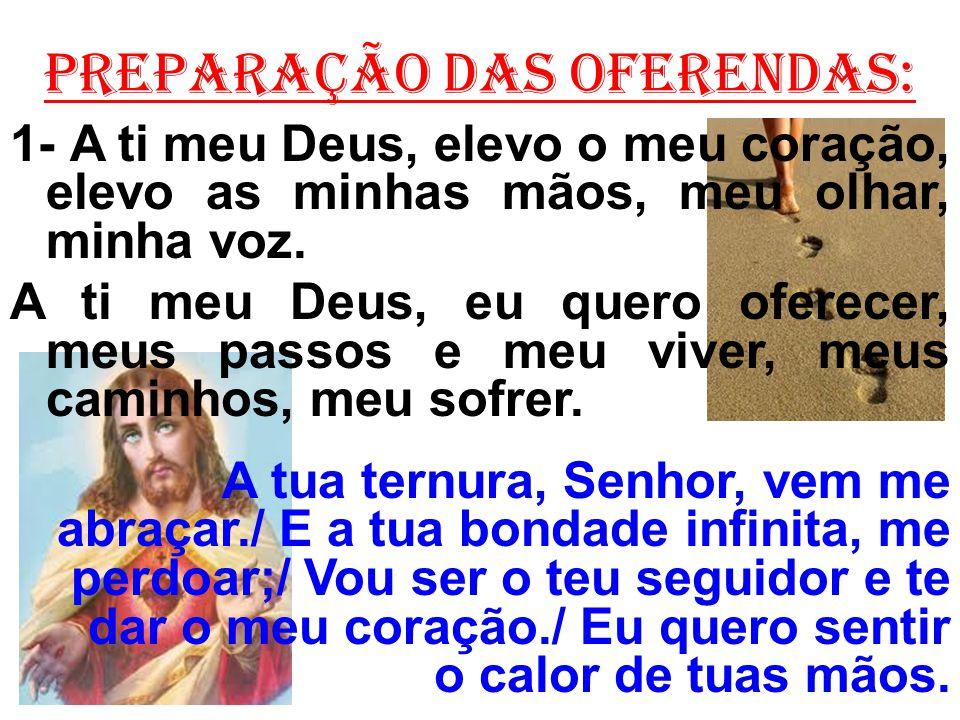 2- A ti meu Deus, que és bom e que tens amor, ao pobre e ao sofredor, vou servir e esperar.