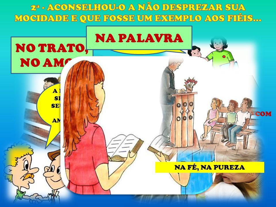 NO ESPÍRITO A PAZ DO SENHOR SEU JOÃO.ATÉ AMANHÃ. RESPEITAR, SER EDUCADO COM PROFESSORES, COLEGAS.