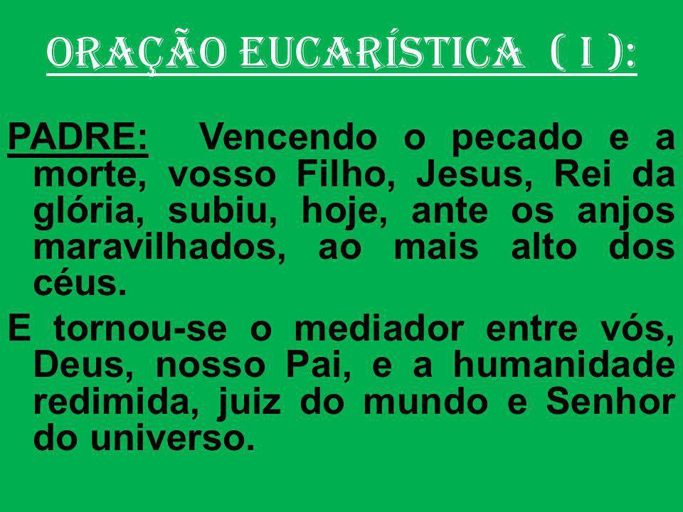 ORAÇÃO EUCARÍSTICA: (VI-D) PADRE: Vós nos destes vosso Filho, Jesus Cristo, nosso Senhor e Redentor.