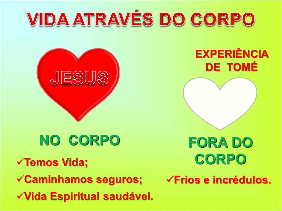 FORA DO CORPO EXPERIÊNCIA DE TOMÉ NO CORPO Temos Vida; Temos Vida; Caminhamos seguros; Caminhamos seguros; Vida Espiritual saudável. Vida Espiritual s