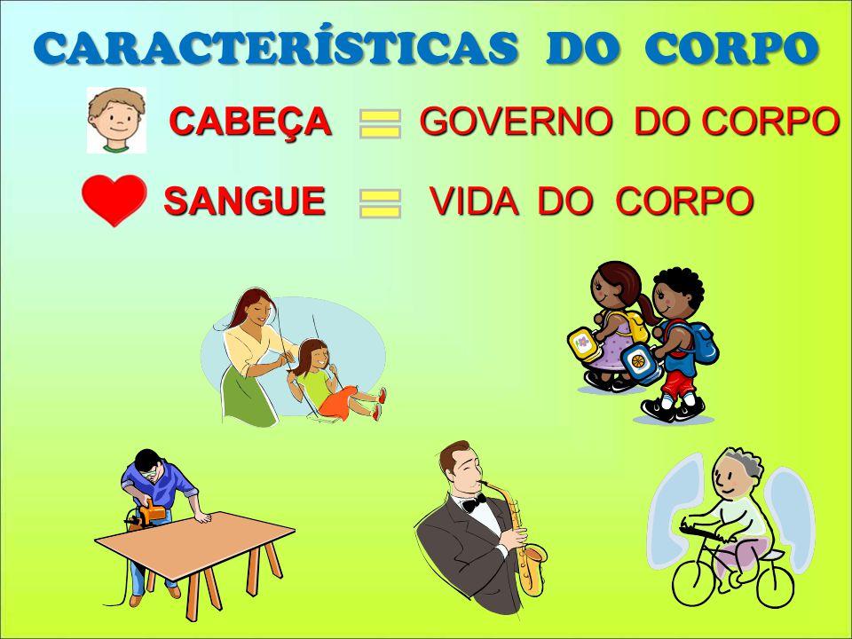 CARACTERÍSTICAS DO CORPO CABEÇA GOVERNO DO CORPO SANGUE VIDA DO CORPO
