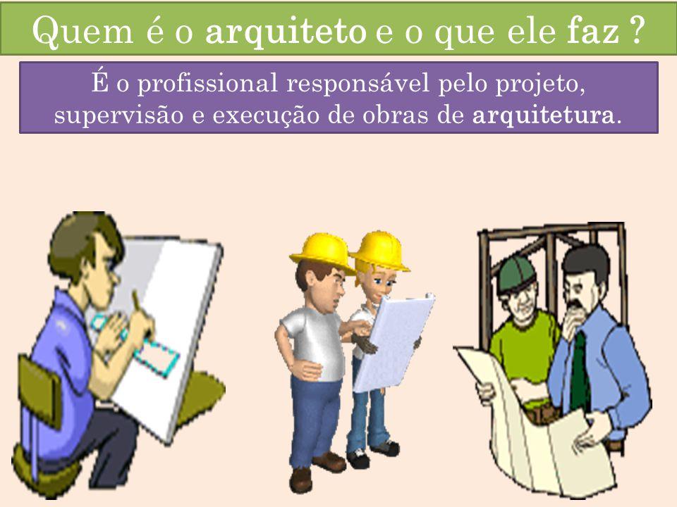 Quem é o arquiteto e o que ele faz .