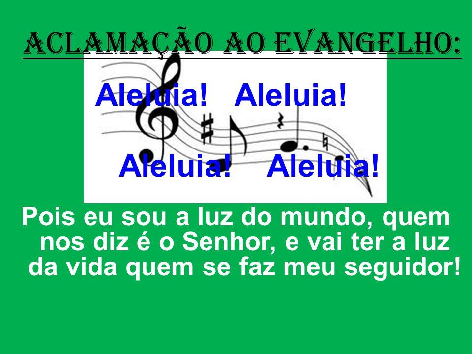 ACLAMAÇÃO AO EVANGELHO: Aleluia.Aleluia.