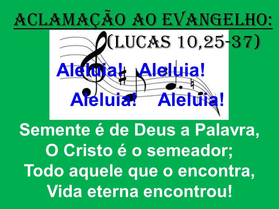 ACLAMAÇÃO AO EVANGELHO: (Lucas 10,25-37) Aleluia.Aleluia.