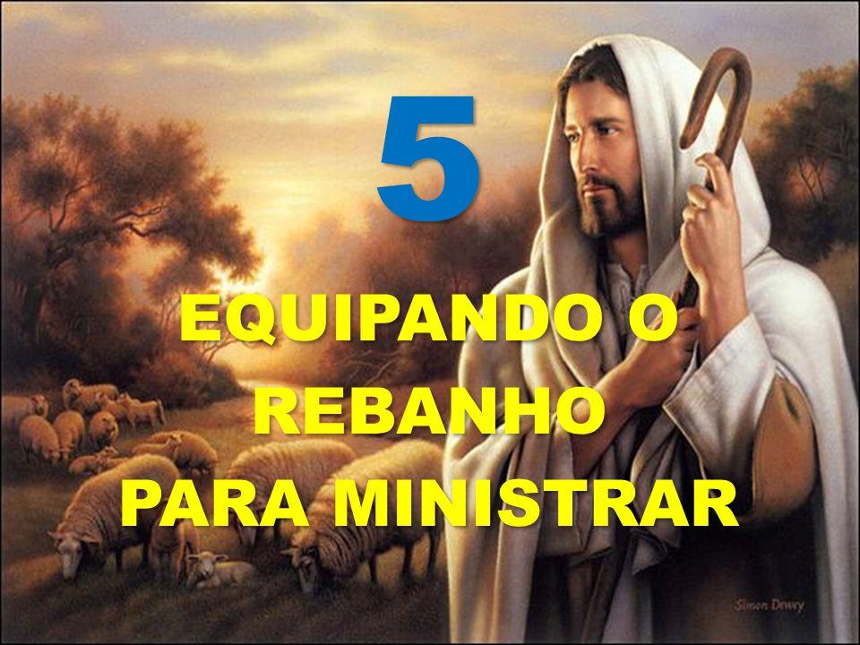 5 EQUIPANDO O REBANHO PARA MINISTRAR 5 EQUIPANDO O REBANHO PARA MINISTRAR