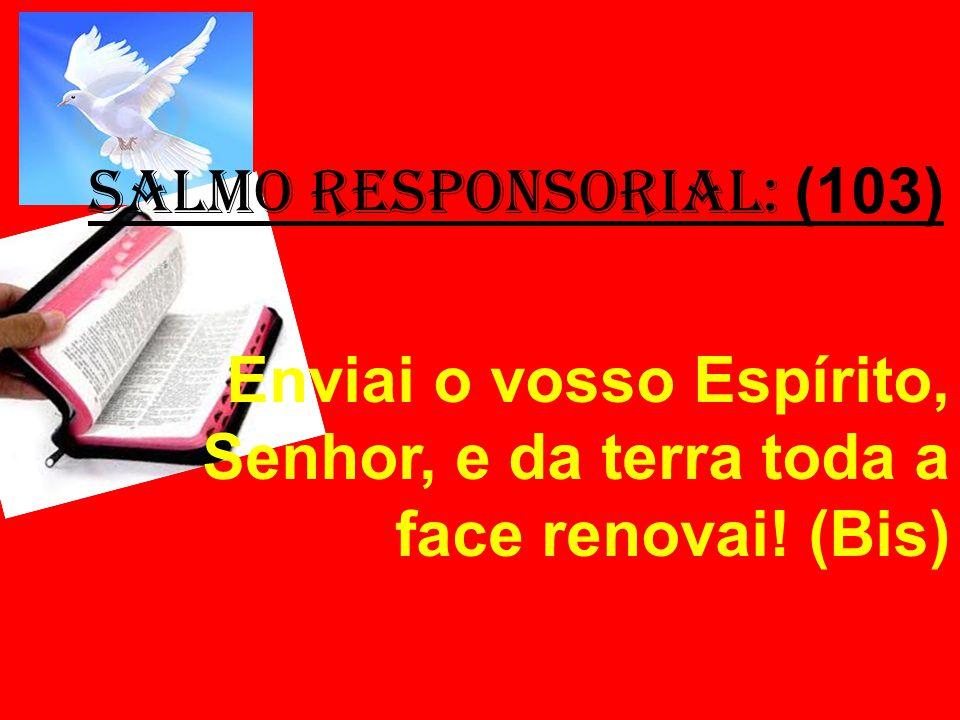 salmo responsorial: (103) Enviai o vosso Espírito, Senhor, e da terra toda a face renovai! (Bis)